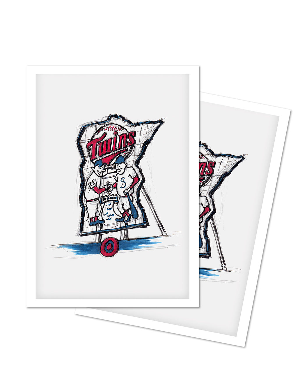 Target Field Ink Sketch Art Card (Minnie and Paul)