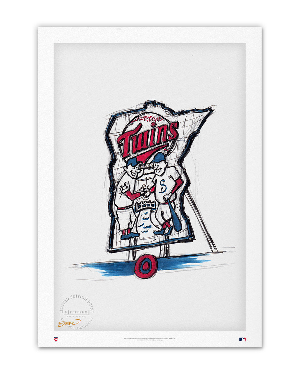 Target Field Ink Sketch (Minnie and Paul)