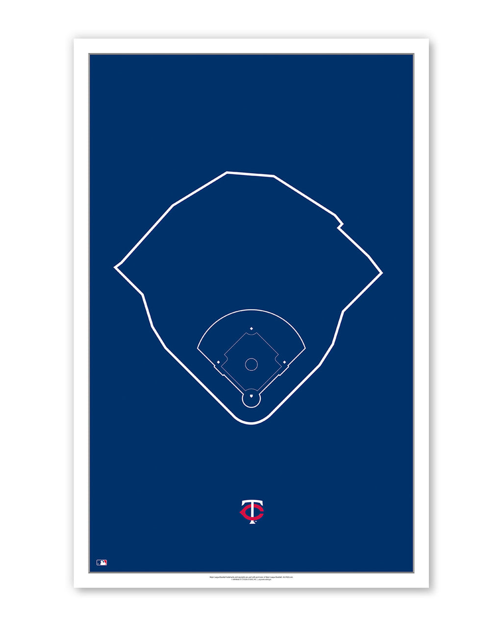 MLB Outline Ballpark - Target Field Minnesota Twins - S Preston