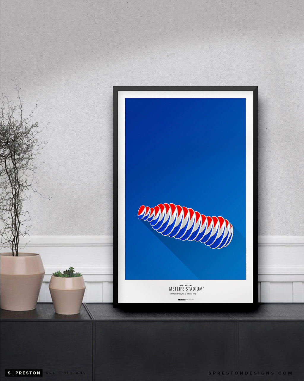 Minimalist MetLife Stadium Poster Print New York Giants - S Preston