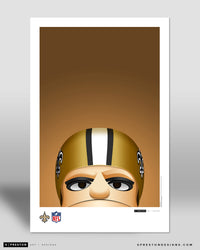 Minimalist Sir Saint Poster Print New Orleans Saints - S Preston