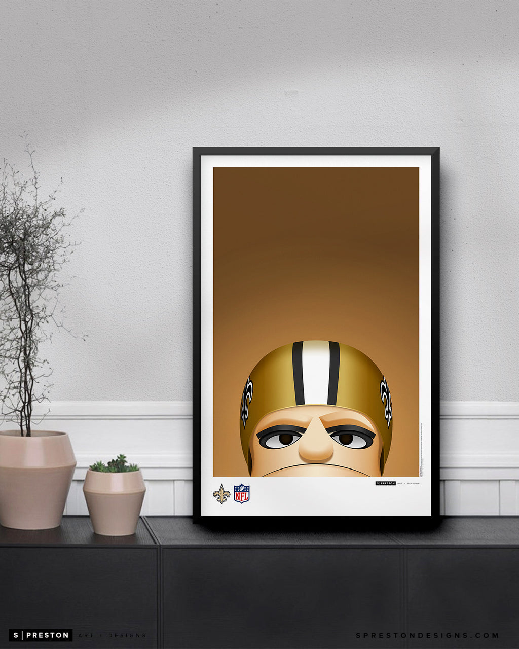 Minimalist Sir Saint Poster Print New Orleans Saints - S. Preston