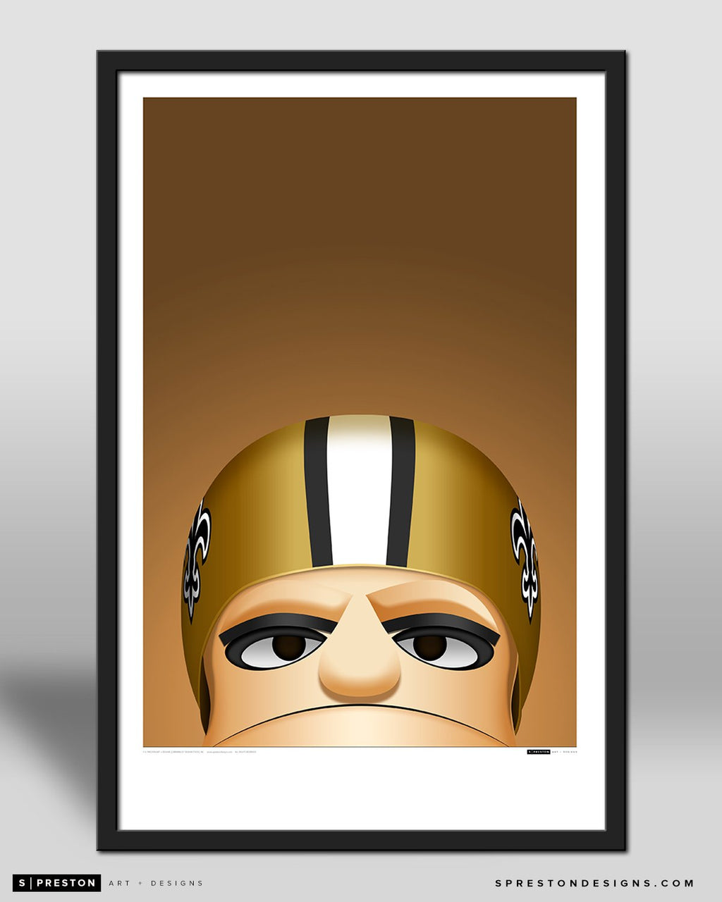 Minimalist Mascotn by S. Preston - official mascot of the New Orleans Saints