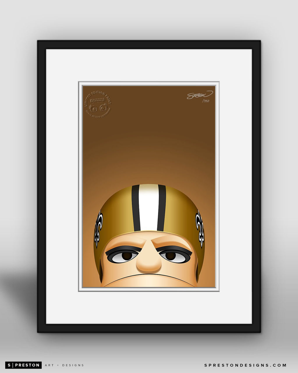 Minimalist Sir Saint - New Orleans Saints - S. Preston