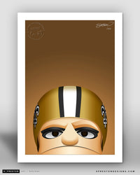 Minimalist Sir Saint New Orleans Saints Mascot - S. Preston