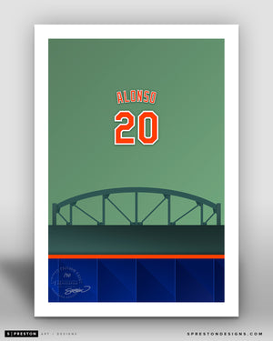 Minimalist Citi Field - Player Series - Pete Alonso - New York Mets - S. Preston