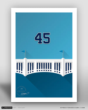 Minimalist Yankee Stadium - Player Series - Gerrit Cole - New York Yankees - S. Preston