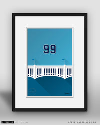 Minimalist Yankee Stadium - Player Series - Aaron Judge - New York Yankees - S. Preston