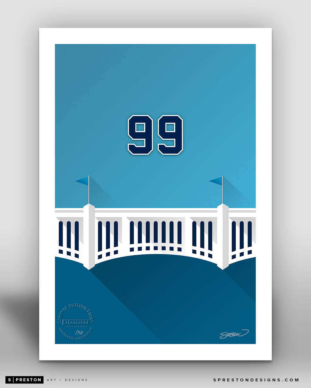 Minimalist Yankee Stadium - Player Series - Aaron Judge