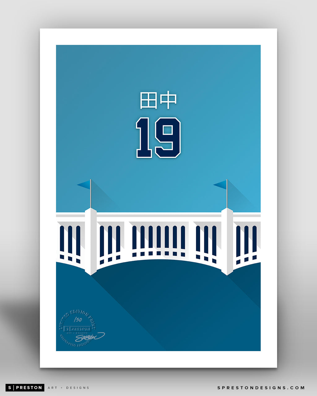 Minimalist Yankee Stadium - Player Series - Masahiro Tanaka - New York Yankees - S. Preston