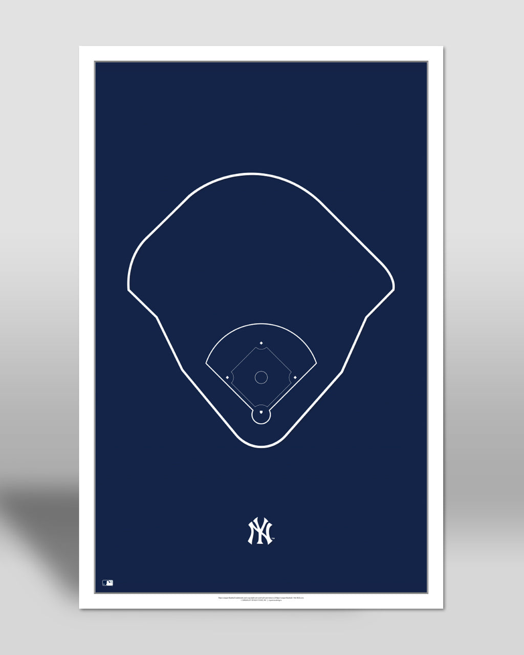 MLB Outline Ballpark - Yankee Stadium New York Yankees - S Preston