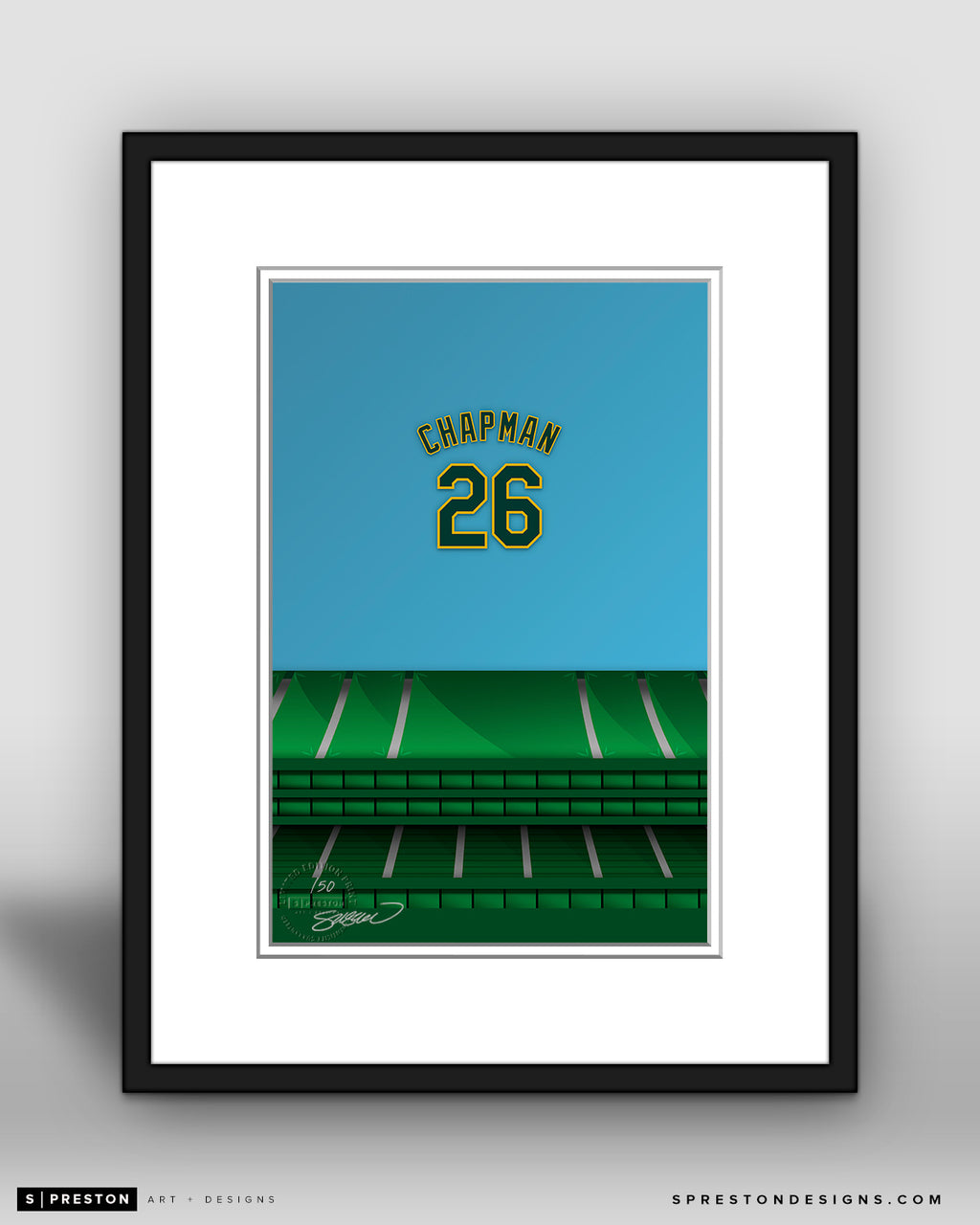 Minimalist Oakland Coliseum - Player Series - Matt Chapman - Oakland Athletics - S. Preston