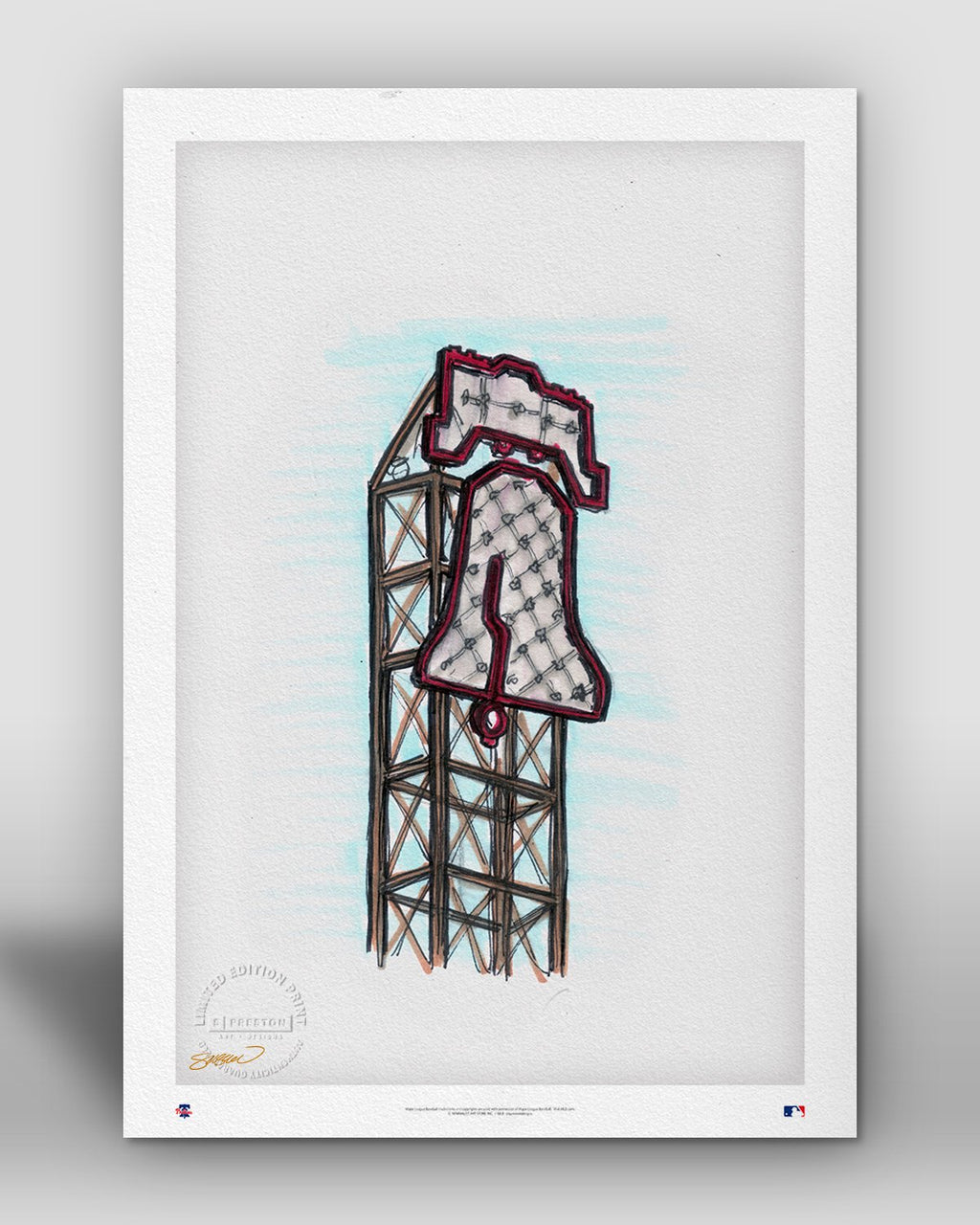 Citizens Bank Park Ink Sketch - Philadelphia Phillies - by S. Preston