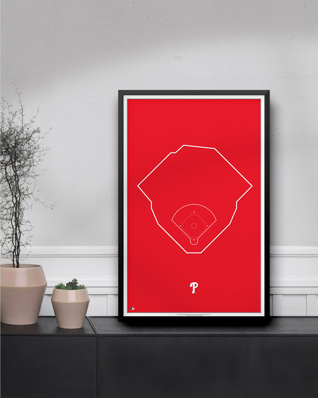 MLB Outline Ballpark - Citizens Bank Park Philadelphia Phillies - S Preston