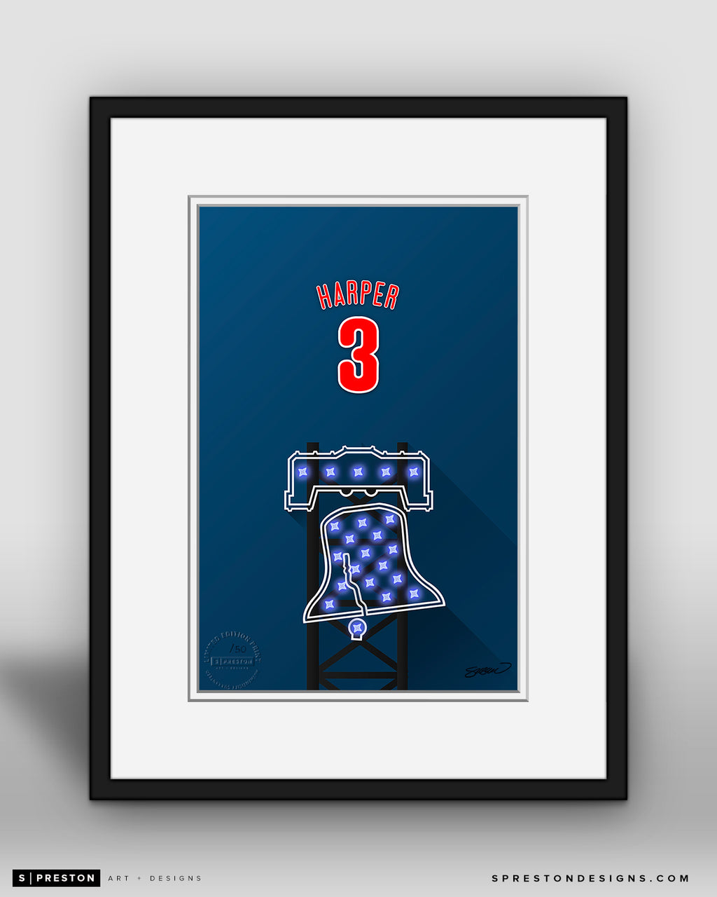 Minimalist Citizens Bank Park - Player Series - Bryce Harper - Philadelphia Phillies - S. Preston