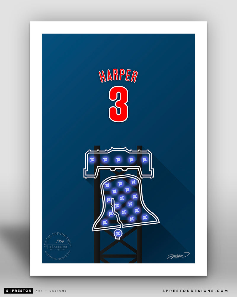 Minimalist Citizens Bank Park - Player Series - Bryce Harper