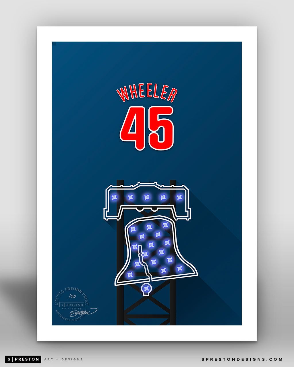 Minimalist Citizens Bank Park - Player Series - Zack Wheeler - Philadelphia Phillies - S. Preston