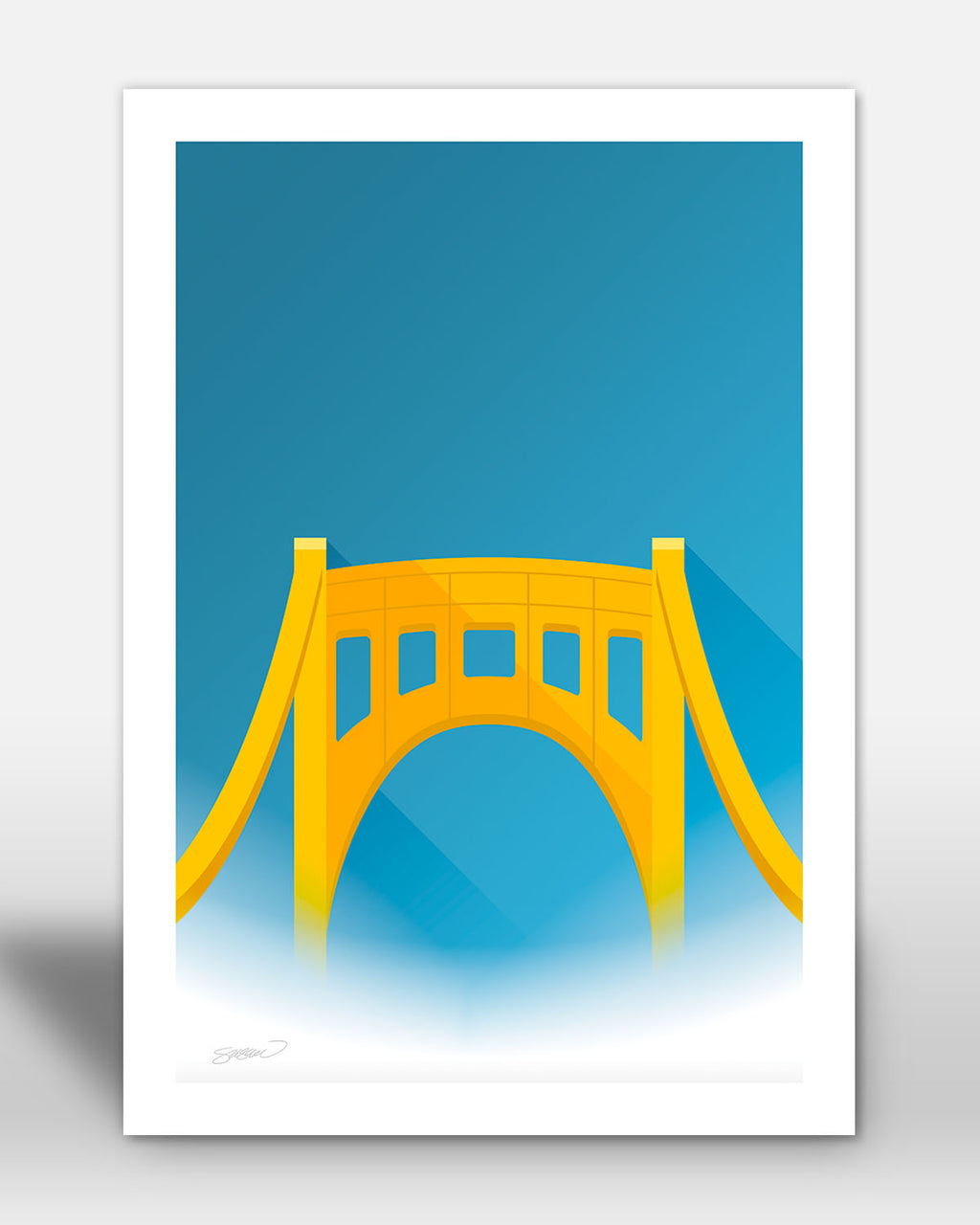 Minimalist Clemente Bridge - Pittsburgh