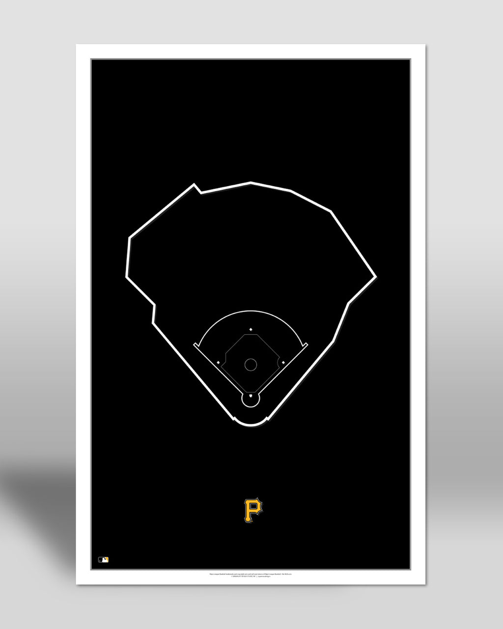 MLB Outline Ballpark - PNC Park Pittsburgh Pirates - S Preston