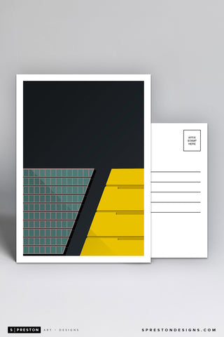 Minimalist Paul Brown Stadium Postcard