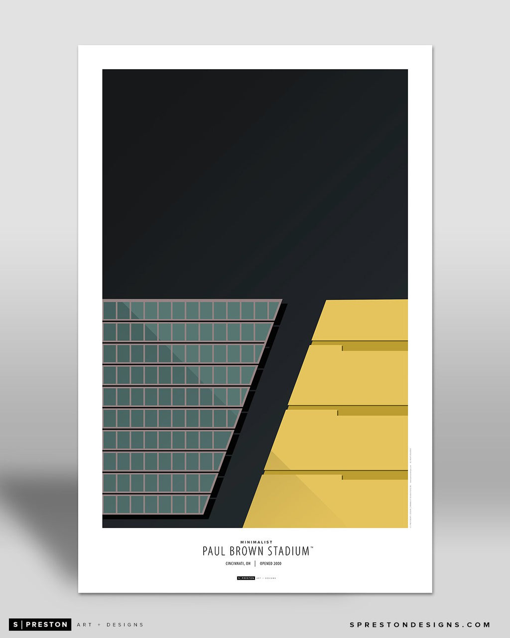 Minimalist Paul Brown Stadium Art Poster - Clearance
