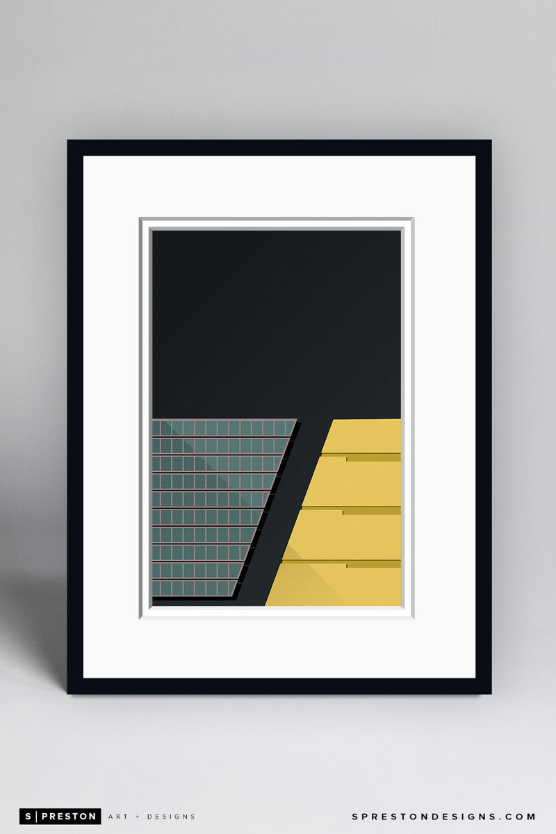 Minimalist Paul Brown Stadium Art Print - Cincinnati Bengals - S. Preston Art + Designs