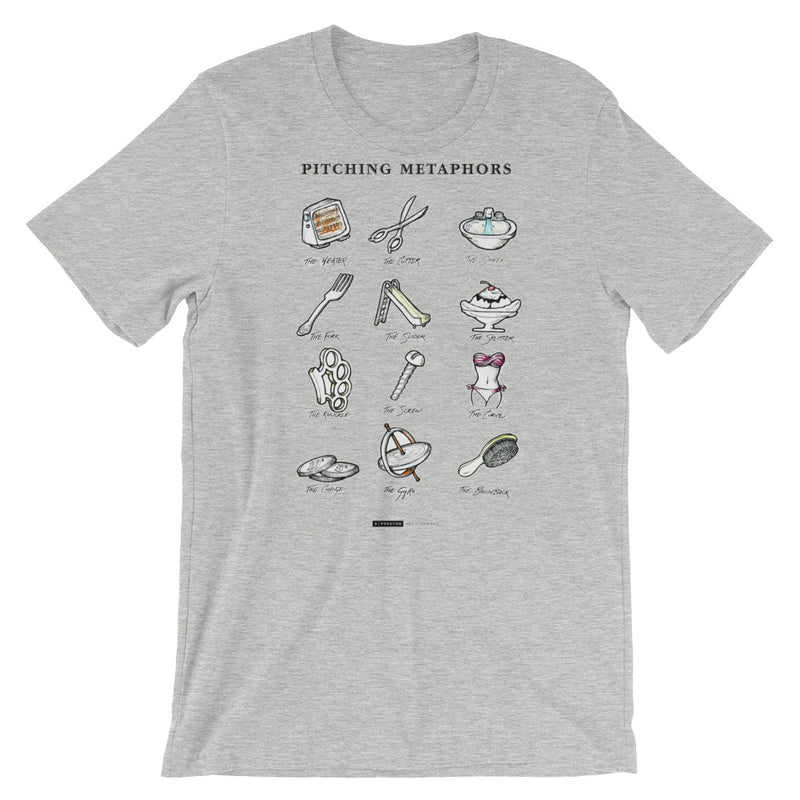 Pitching Metaphors Tee by S. Preston