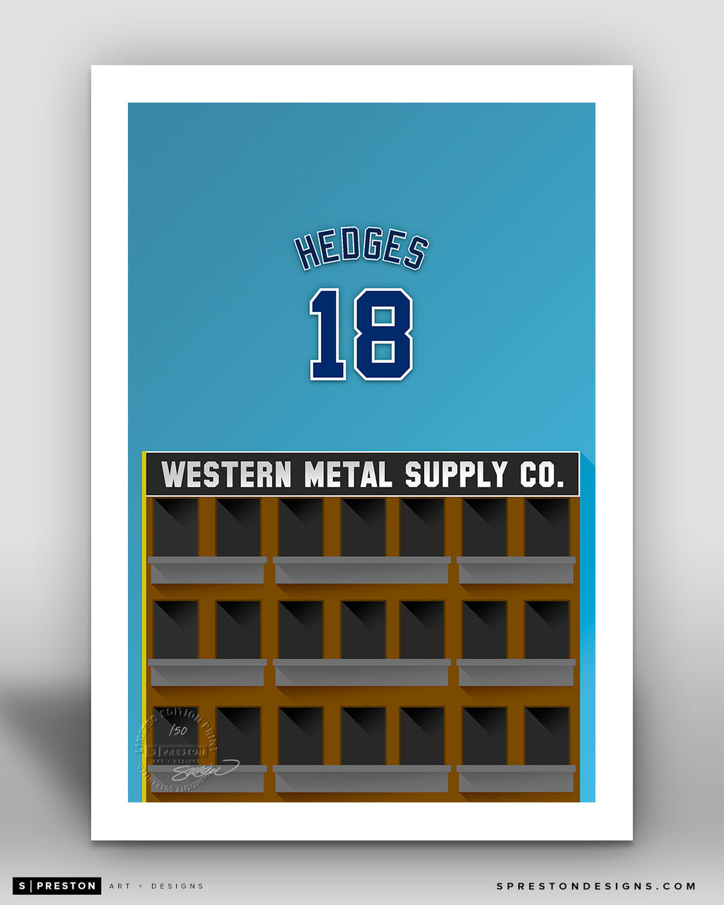 Minimalist Petco Park - Player Series - Austin Hedges