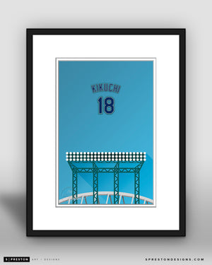 Minimalist T-Mobile Park - Player Series - Yusei Kikuchi - Seattle Mariners - S. Preston