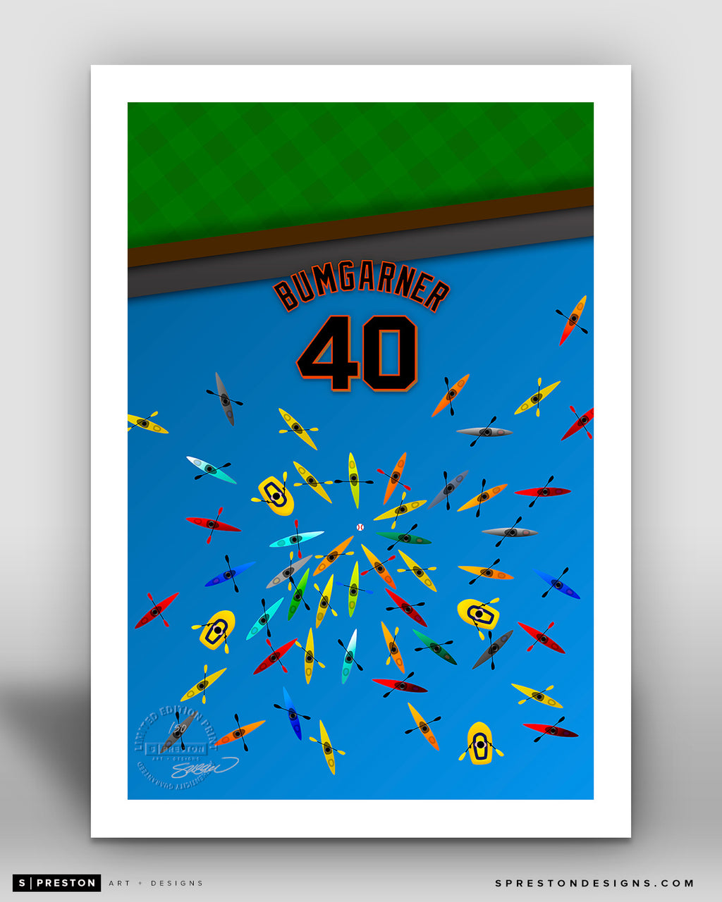 Minimalist Oracle Park - Player Series - Madison Bumgarner