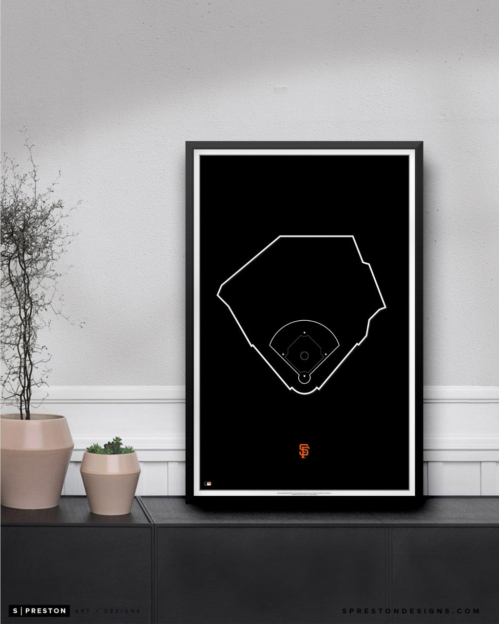 MLB Outline Ballpark - Oracle Park San Francisco Giants - S Preston