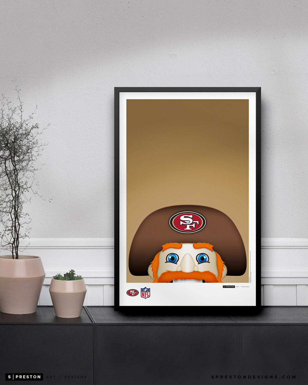 Minimalist Sourdough Sam Poster Print San Francisco 49ers - S. Preston
