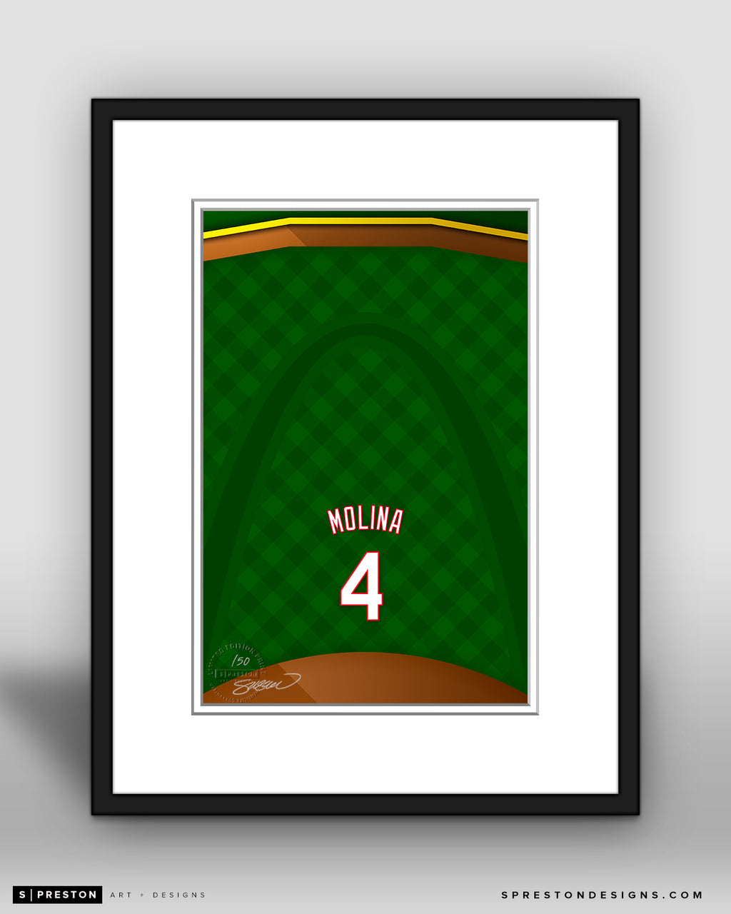 Minimalist Busch Stadium - Player Series - Yadier Molina - St. Louis Cardinals - S. Preston