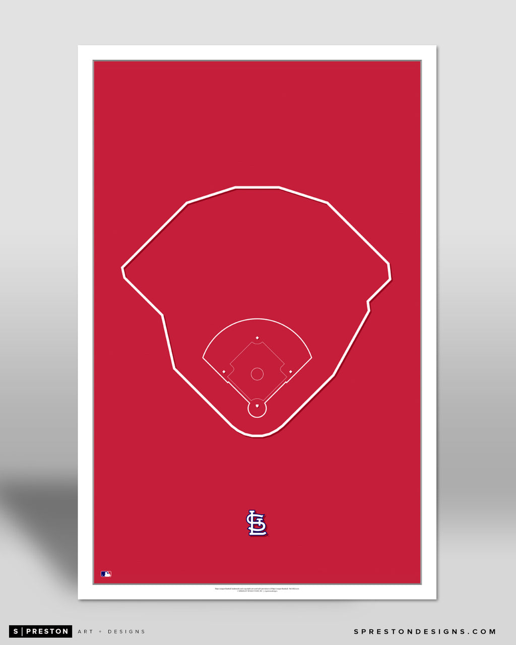 MLB Outline Ballpark - Busch Stadium St. Louis Cardinals - S Preston
