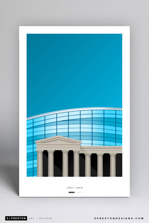 Minimalist Soldier Field Poster Print Chicago Bears - S Preston