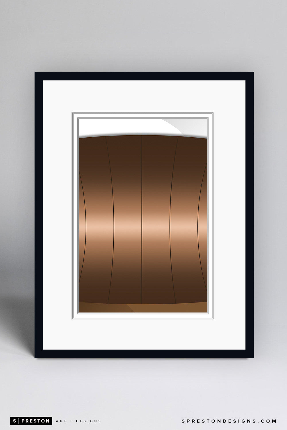 Minimalist Superdome Art Print - New Orleans Saints - S. Preston Art + Designs