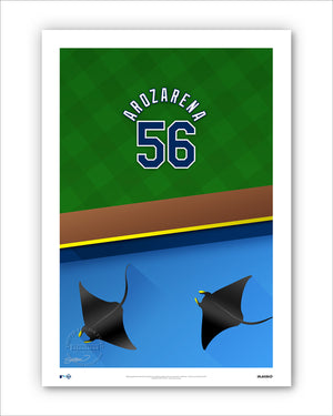 Minimalist Tropicana Field - Player Series - Randy Arozarena