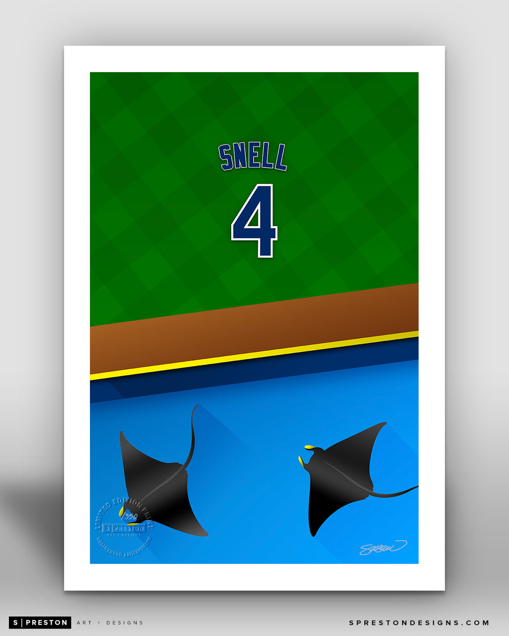 Minimalist Tropicana Field - Player Series - Blake Snell