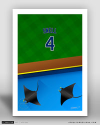Minimalist Tropicana Field - Player Series - Blake Snell - Tampa Bay Rays - S. Preston