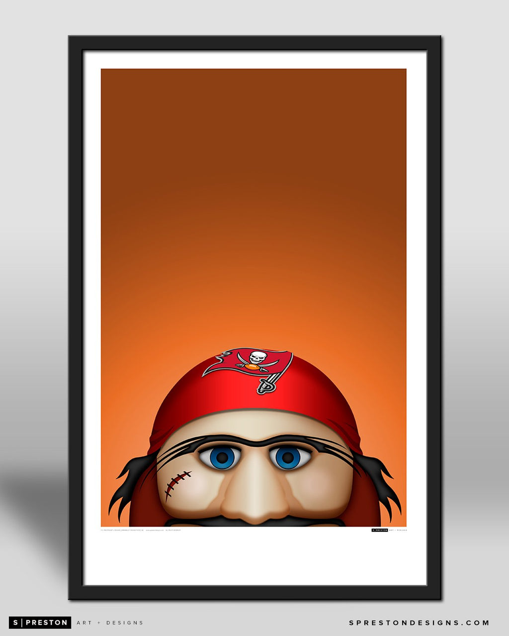 Minimalist Captain Fear by S. Preston - official mascot of the Tampa Bay Buccaneers