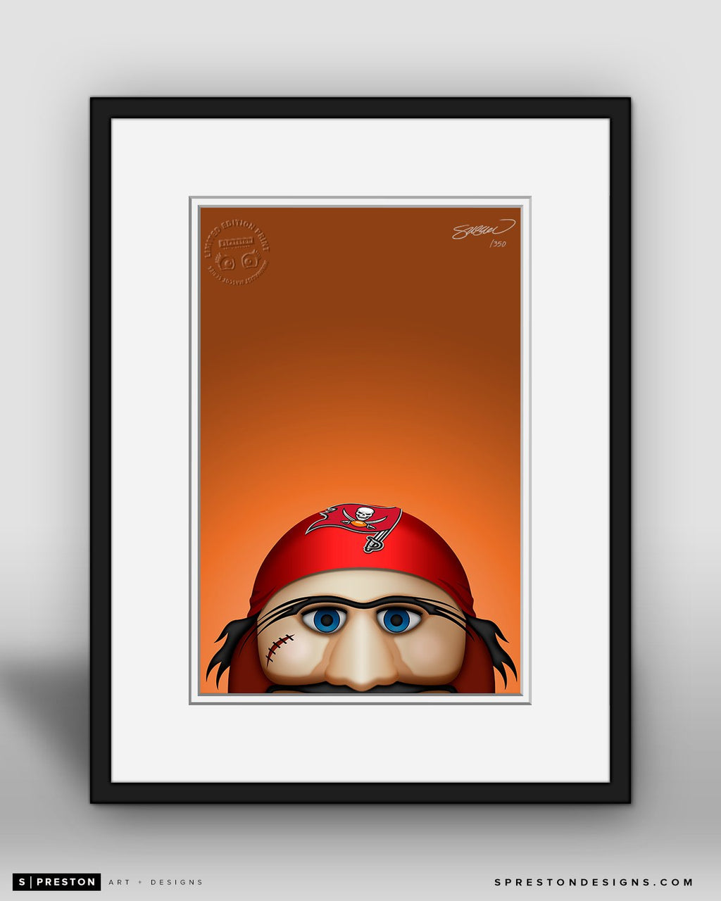 Minimalist Captain Fear - Tampa Bay Buccaneers - S. Preston