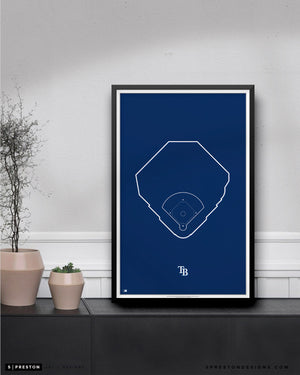 MLB Outline Ballpark - Tropicana Field Tampa Bay Rays - S Preston