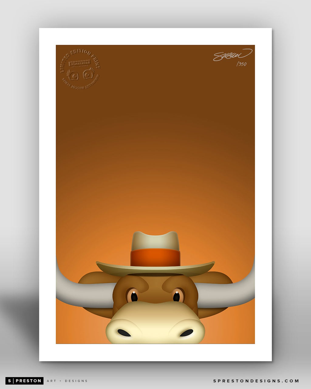 Minimalist Hook'em - University of Texas - S. Preston