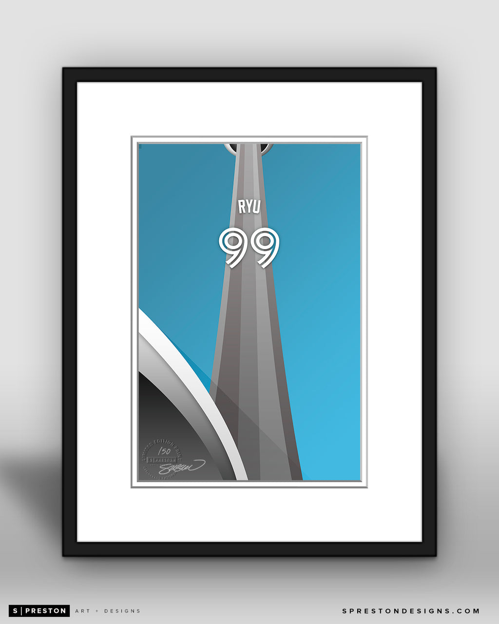Minimalist Rogers Centre - Player Series - Hyun-Jin Ryu - Toronto Blue Jays - S. Preston
