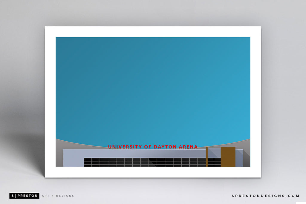 Minimalist UD Arena - University of Dayton Art Print - University of Dayton - S. Preston Art + Designs