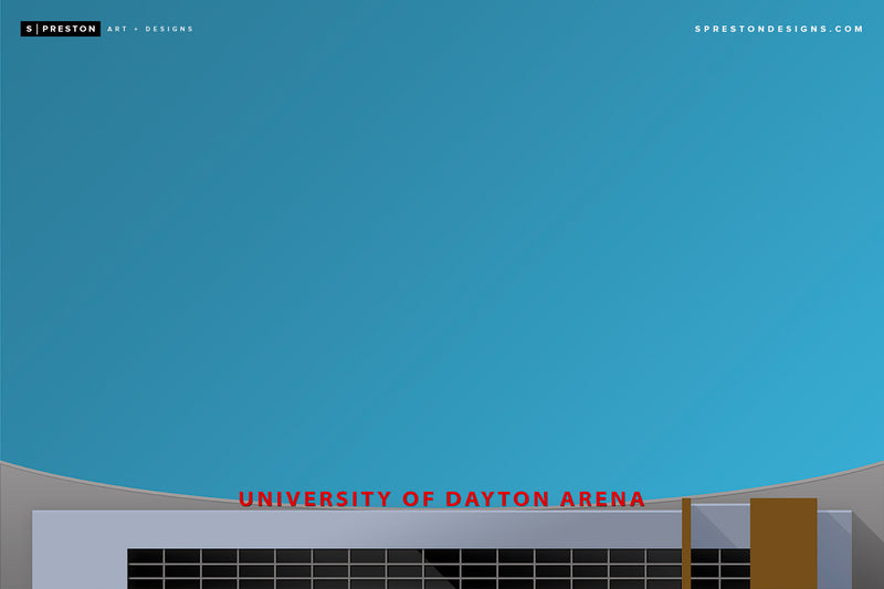 Minimalist UD Arena - University of Dayton - Dayton Flyers - S. Preston