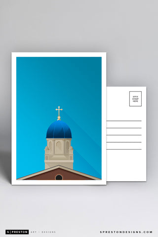 Minimalist Immaculate Conception Chapel Postcard - University of Dayton