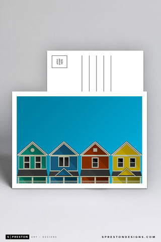 Minimalist Student Neighborhood Postcard - University of Dayton