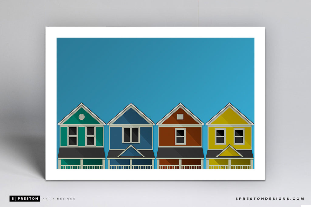 Minimalist University of Dayton - Student Ghettos Art Print - University of Dayton - S. Preston Art + Designs