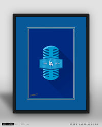 Vin-Minimalist Dodgers Broadcasting print Limited Edition - S. Preston Art + Designs - S. Preston Art + Designs